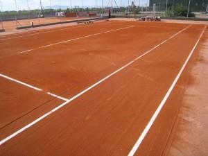 construcción de pistas de tenis